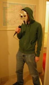 My MF DOOM costume. Halloween 2007
