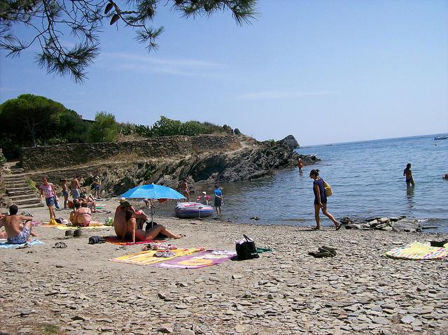 rocky beach in Cadaques